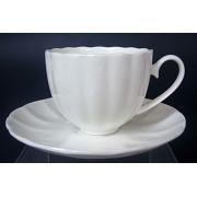 Н 1000000 Магнолия набор чашек кофейных 150мл с блюдцем 6/12 (бел.)
