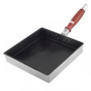 Сковорода для омлета; сталь,антиприг.покр.; H=39,L=370/215мм; металлич.,черный