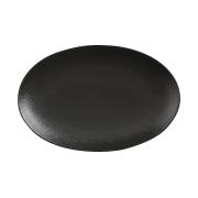 Тарелка овальная малая (чёрная) Икра без инд.упаковки
