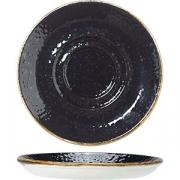 Блюдце «Крафт лакрица» D=11см; черный