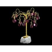 Сувенир в форме дерева,16 подвесок, высота 10 см.