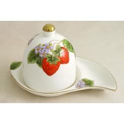 Тарелка для лимона с крышкой «Клубника»