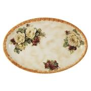 Блюдо овальное Роза и малина