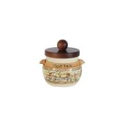 Банка для сыпучих продуктов с деревянной крышкой (кофе) Старая Тоскана