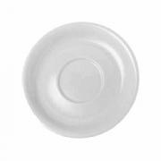 Блюдце «Алберго», фарфор, D=16.2см, белый