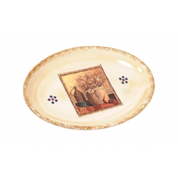 Овальное блюдо «Натюрморт» 36 см
