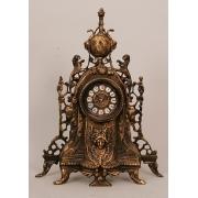 Часы «Львы» каштановый 41х33см