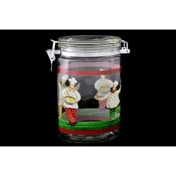 Банка для сыпучих продуктов «Французский повар» 1,2 л/ 20 см