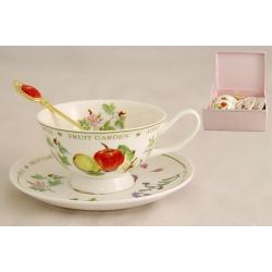 Набор для чая на 2 персоны «Фруктовый сад -яблоки»
