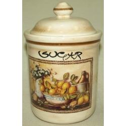 Банка для сыпучих продуктов с керамической крышкой (сахар) ««Лимоны» 1 л