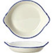 Сковорода порц. «Блю дэппл» D=21.5см; белый, синий