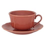 Чашка с блюдцем Villa (красная) без инд.упаковки