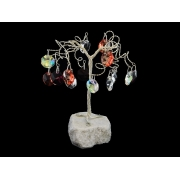 Сувенир в форме дерева, 16 подвесок, высота 10 см.