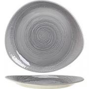 Тарелка мелкая «Скейп грей» D=30.5см; серый