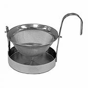 Сито для чая с подставкой «Проотель», сталь нерж., D=62,H=65мм, металлич.