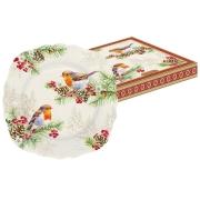Тарелка десертная Снегири в подарочной упаковке