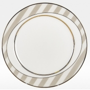 Набор закусочных тарелок «Серые полоски» на 6 персон