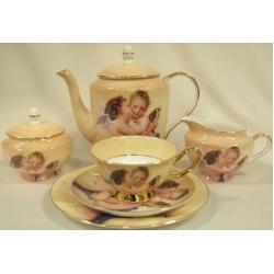 Чайный сервиз из 21 предмета на 6 персон «Ангелочки»