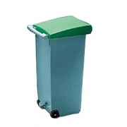 Контейнер для мусора с педалью; 70л; H=80,L=46,B=32см; зелен.
