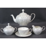 Н 1050011 Джулия ГРИН сервиз чайный 6/18 (зол.лента)