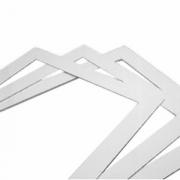 Шаблон для нарезки бисквита, пластик, H=4,L=570,B=370мм, белый