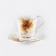 Чашка 220мл с блюдцем 16см «Бежевая лилия»