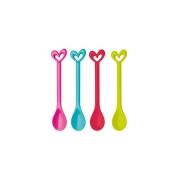 Набор из 4 ложек SUSI KOZIOL, клубничный/горчичный/розовый/голубой