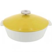 Утятница с крышкой «Революшн» H=16, L=32.5, B=26.5см; белый, желт.
