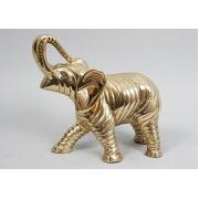 Слон сред. золотистый 21х23 см.