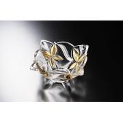 Салатник 24 см «Ангелина» с золотым цветком