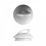 Крышка для чайника арт.3150335 «Мелодия», фарфор, D=92,H=46мм, белый