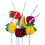 Трубочка с фруктами 50шт. 24см