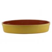 Форма для запекания 33 см овальная желтая