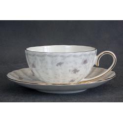 Н 1040011 Вуаль набор чашек чайных 200мл с блюдцем 6/12 (золотая лента)
