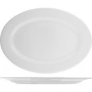 Блюдо овальное «Коллаж» L=30, B=21см; белый