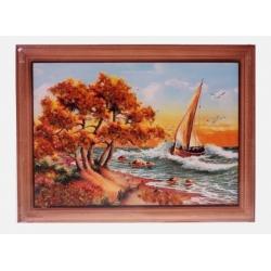 Картина «Лодка под парусом»