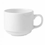 Чашка чайная «Монако Вайт», фарфор, 150мл, D=7,H=6,L=10см, белый