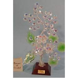 Бонсай с хризантемами зеленый 24см