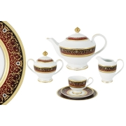 Чайный сервиз 23 предмета на 6 персон Принц (бордо)
