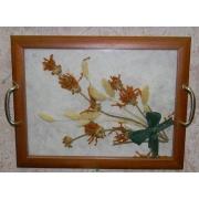 Поднос с цветами 24х30,полевой букет