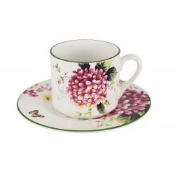 Чашка с блюдцем Цветы и птицы