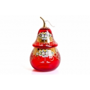 Ваза для конфет «Лепка красная груша»