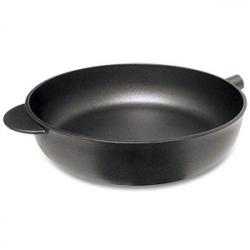 Сковорода глубокая без ручки, с антипригарным покрытием, dia 24 см, h 7,5 см, литой алюминий