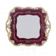 Блюдо квадратное 30 см «Ювел красный»
