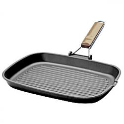 Сковорода-гриль прям. 25*35см литой алюм