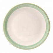 Блюдо для пиццы «Рио Грин», фарфор, D=31см, белый,зелен.