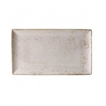 Блюдо прямоугольное «Крафт», фарфор, L=33,B=19см, белый