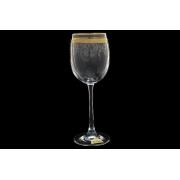 Бокал для вина Золотая полоса+ втертая платина