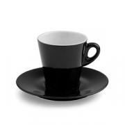 Чашка чайн.с блюдцем; фарфор; 200мл; черный