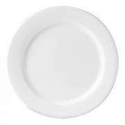 Тарелка мелкая, фарфор, D=27,H=2см, белый,коричнев.